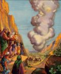 Pillar of smoke leads the Israelites.